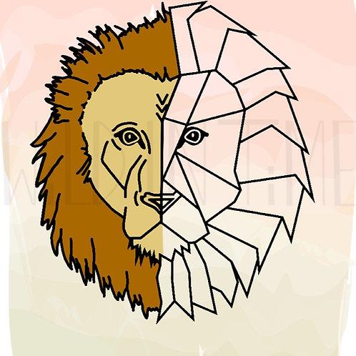 Lion DIGITAL Print Download