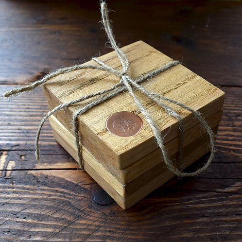 Recycled Character Oak Coasters