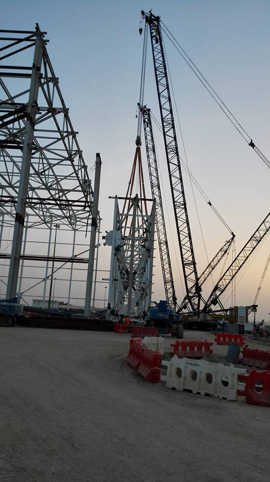 Muscat Airport door truss 400ton 4