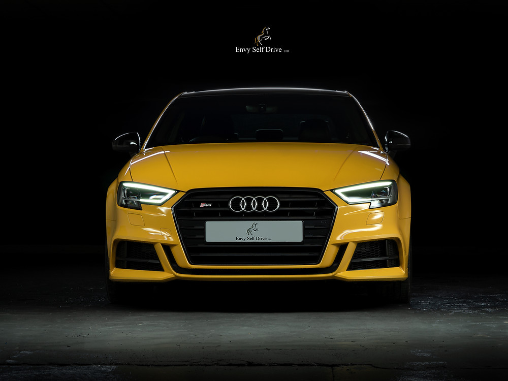 The image shows the beautiful front end of the vegas yellow s3.