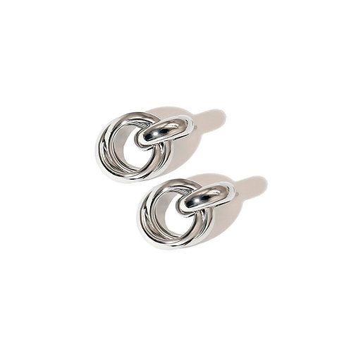 Silver Knotted Stud Earrings