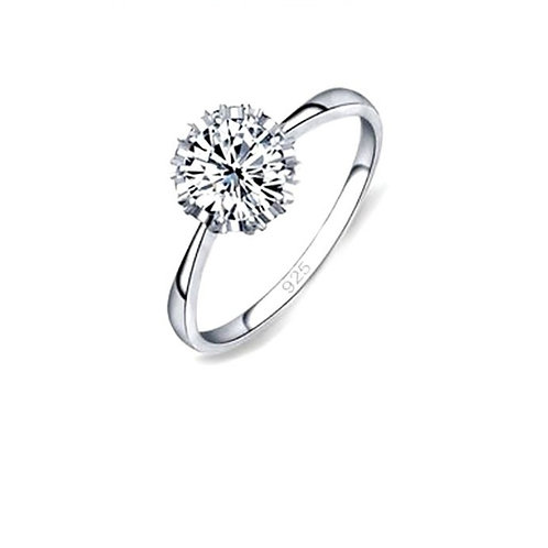 Classic Silver Engagement Ring