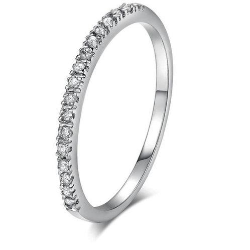 Rhinestone Finish Crystal Ring