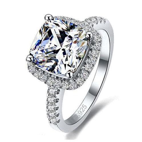 Luxury Cubic Silver Wedding Ring