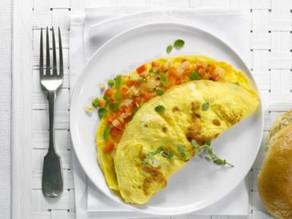 بيض اومليت بالفلفل والبصل