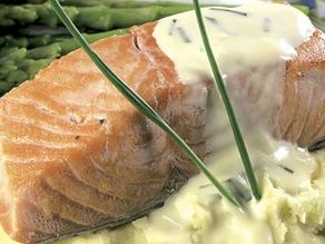 سالمون بالبطاطس والكريمه صحي