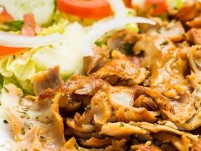 شاورما الدجاج مع كوب ارز بسمتي مسلوق