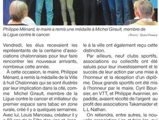 Remise de diplôme par la municipalité de Chalonnes-sur-Loire