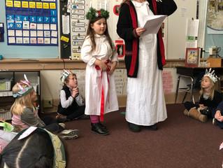 Kindergarten Celebrating Santa Lucia