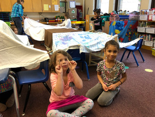 We filled our Greenie Jar and celebrated by making blanket forts.
