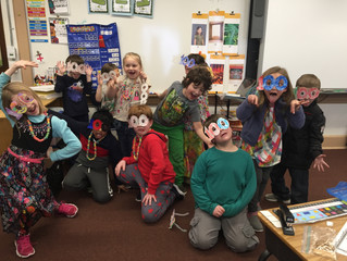 First Graders Celebrating the 100th day
