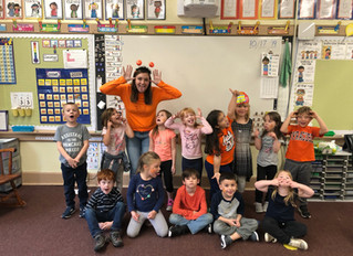 Kindergarteners did pumpkin themed activities all day long for pumpkin day. We even had face paintin