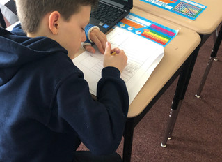 Fifth graders in Ms. Cry's class are hard at work researching American Indian Tribes and creating Tw