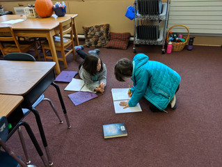 4th Graders working on their Norse God stories