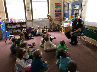 Today Captain Carignan visited our classroom and told us all about being a police officer.