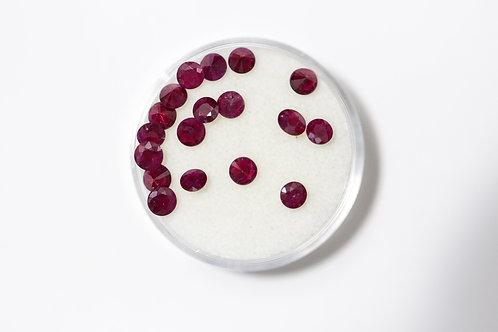 Round Rubies 3.28 Cttw.