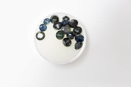 Round Sapphires 5.3mm 10.79 Cttw
