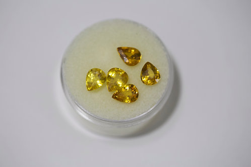 Yellow Pear Sapphire 4.5 Cttw.