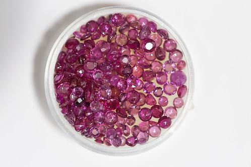 Round Rubies 16.78 Cttw.