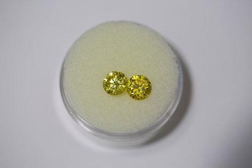 Round Yellow Sapphires 2.91 Cttw.