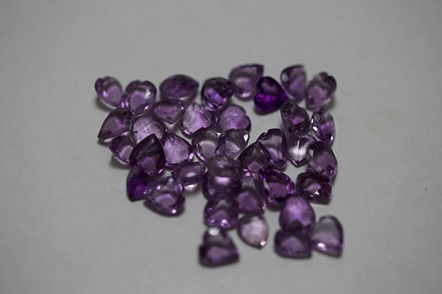 Heart Shape Amethyst 7x8mm 42cttw.