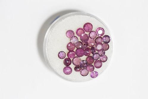 Round Rubies 6.93 Cttw.