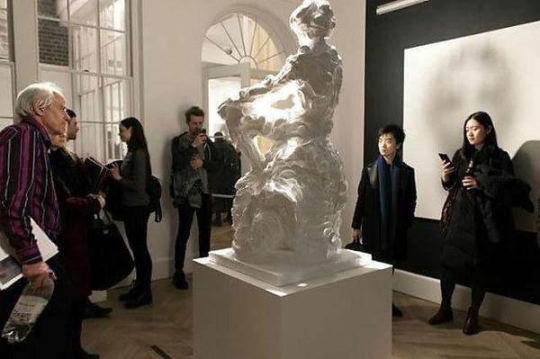 #sculpture in #lazinc in #mayfair #londo