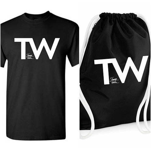 Special PACK - Triko (black) + Batoh (black) + náramek zdarma