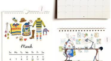 年曆咭設計,平面設計