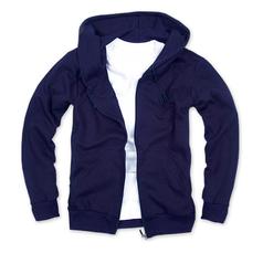 拉鏈套頭衛衣,毛圈拉鏈套頭衛衣_深藍色