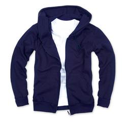 拉鏈衛衣,360g 毛圈拉鏈套頭衛衣_深藍
