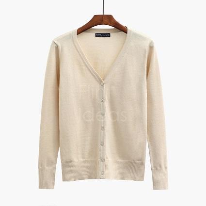 Cardigan jacket_杏色