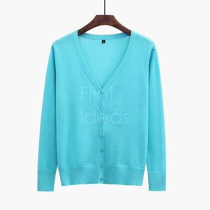 Cardigan jacket_天藍
