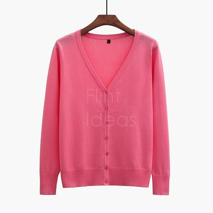 Cardigan jacket_瓜紅