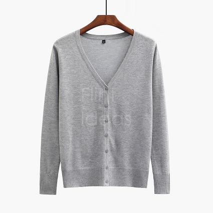 Cardigan jacket_灰色
