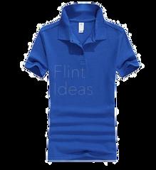 Polo恤_女裝藍色