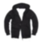 拉鏈套頭衛衣,毛圈拉鏈套頭衛衣_黑色