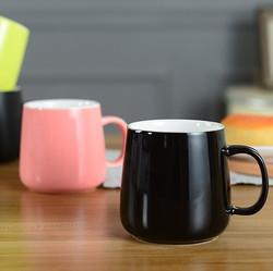 廣告杯訂造 -(黑色和粉紅色)C122 顏色陶瓷杯