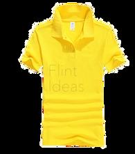 Polo恤_女裝黃色