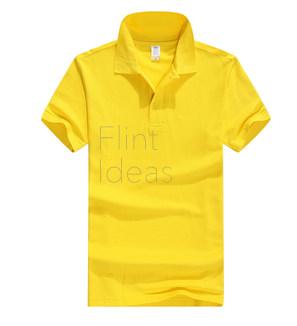Polo恤_男裝黃色