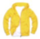 拉鏈套頭衛衣,毛圈拉鏈套頭衛衣_黃色