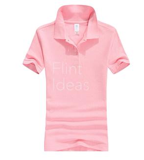 Polo恤_女裝淺粉紅色