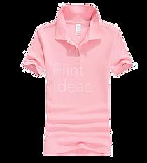 Polo恤_女裝粉紅色