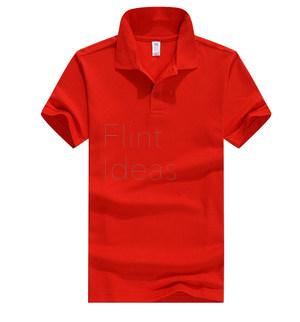 Polo恤_男裝紅色