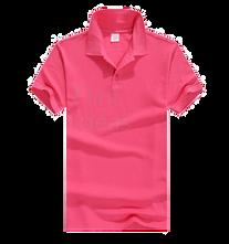 Polo恤_男裝亮粉紅色