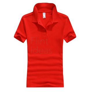 Polo恤_女裝紅色