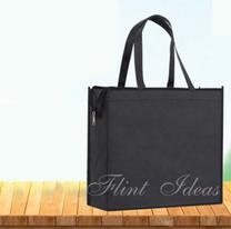 環保袋, 環保袋訂造 -無紡布加厚拉鍊環保袋02