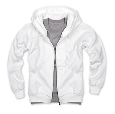 拉鏈套頭衛衣,毛圈拉鏈套頭衛衣_白色
