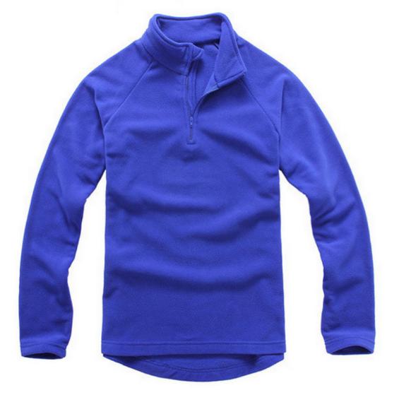 拉鏈衛衣,立領搖粒絨拉鏈衛衣_藍