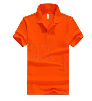 Polo恤_男裝深橙色